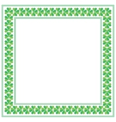 St patricks day square frame with shamrock on vector