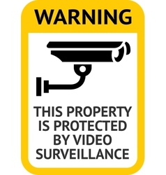 Notice video surveillance vector