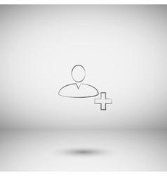User profile web icon vector