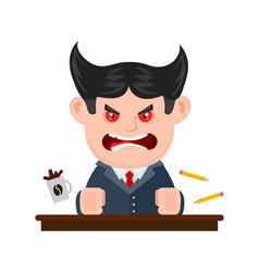 angry scary scream boss businessman vector image
