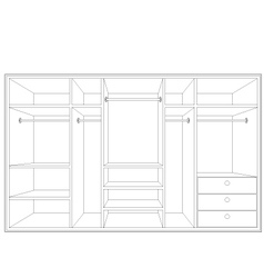 drawing of a wardrobe vector image vector image