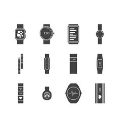 fitness tracker set vector image