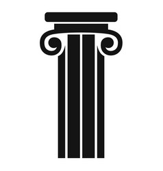 French column icon simple style vector