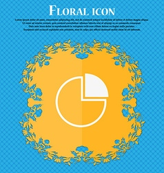 Infographic icon Floral flat design on a blue vector image