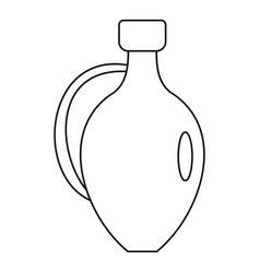 Jug for wine icon outline style vector