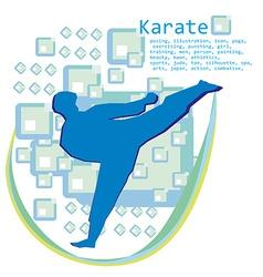 man training karate card vector image vector image