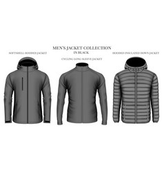 mens jackets collection vector image