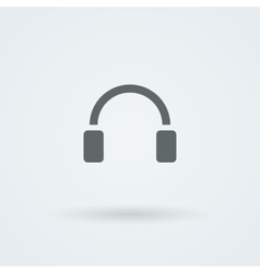 Minimalistic icons big headphones with a vector image