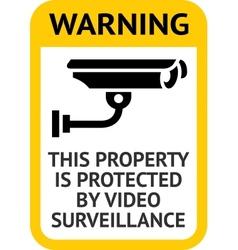 Notice Video Surveillance vector image