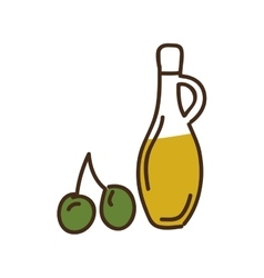 olive oil bottle isolated icon design vector image