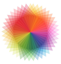 rainbow color in star shape vector image