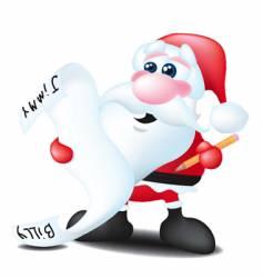 Santa with list vector