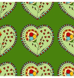 Seamless Pattern Hearts vector image vector image