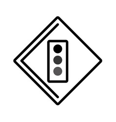 Semaphore traffic light isolated icon vector