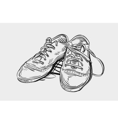 Sneakers hand drawn sketch shoes vector