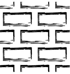 Stylized brick wall pattern bw vector