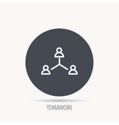 Teamwork group icon business community sign vector