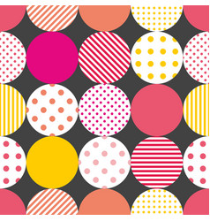 Tile patchwork pattern with pastel polka dots vector