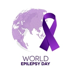 World epilepsy day vector image vector image