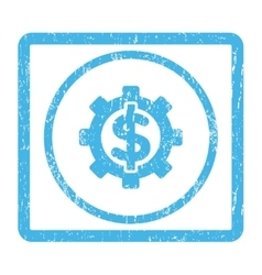 Financial options icon rubber stamp vector