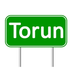 Torun road sign vector