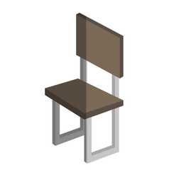 Chair forniture isometric icon vector