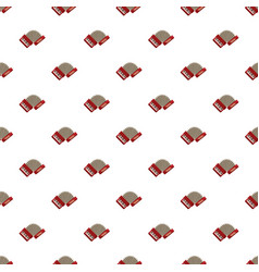 Red accordion pattern vector