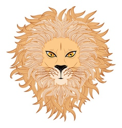 Lion face3 vector