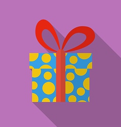 Icon of christmas gift flat style vector