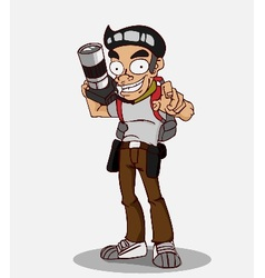Cartoon character photographer vector