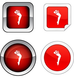 Leg button set vector