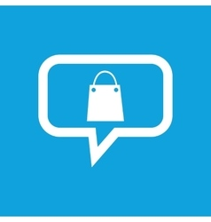 Shopping bag message icon vector