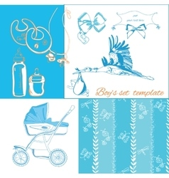 New baby items set vector