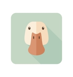 Duck flat icon with long shadow vector
