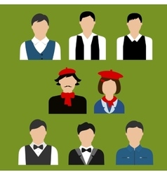 Art and culture professions flat avatars vector