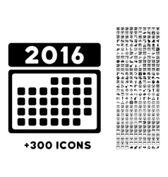 2016 month binder icon vector