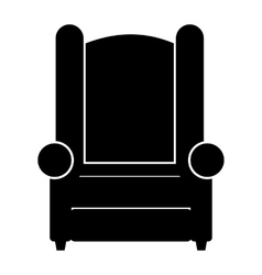 Armchair simple icon vector