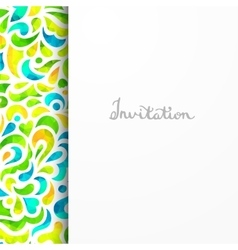 Beautiful card for invitation or announcement vector