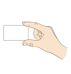 Business card in hand vector