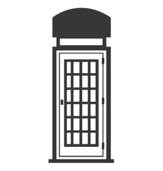 Isolated british telephone cabin graphic vector