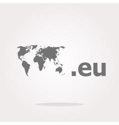 Domain EU sign icon Top-level internet domain vector image