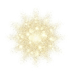 Golden glitter texture splash on black background vector