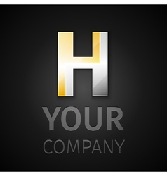abstract logo letter H vector image