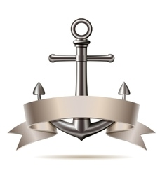 Anchor emblem vector image vector image