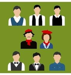 Art and culture professions flat avatars vector