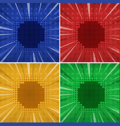 Background template with four colors vector