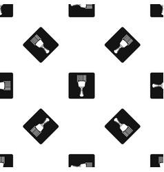 Bar code scanner pattern seamless black vector