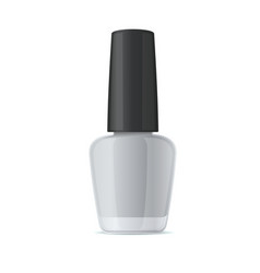 Blank nail polish bottle mockup template on white vector