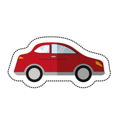 Car sedan vehicle transport shadow vector