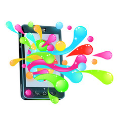 Cell phone jelly bubble concept vector